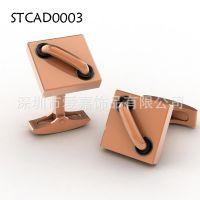 钛钢钛金属玫瑰金电镀袖扣加工生产定制不锈钢服饰配件设计批发厂