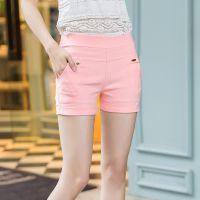 韩版气质优雅全棉短裤 修身显瘦休闲短裤 甜美可爱糖果色女裤夏
