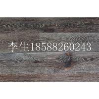 黑色烟熏橡木带白色纹拉丝实木复合地板,15mm北欧风橡木家居地板特价