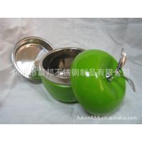 供应创意文化礼品/不锈钢双层饭盒/苹果形饭盒