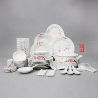 陶礼*** 56头骨瓷餐具套装 中国风 水点桃花 结婚送礼促销价