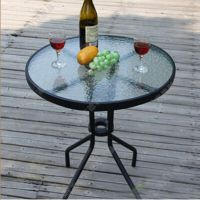 热卖 户外时尚咖啡桌 实用实惠咖啡桌 不锈钢桌脚圆形玻璃咖啡桌 厂家定做
