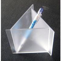 厂家直销透明亚克力三角笔筒 亚克力笔筒订做 亚克力迷你笔座