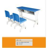 厂家批发西宁塑钢课桌椅 直销学士课桌椅价格 批发环保课桌椅
