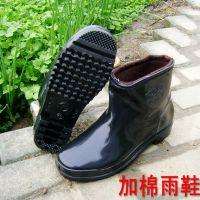 厂家直销低帮加棉男式雨鞋冬季雨靴防水防寒保暖洗车洗衣厨房胶鞋