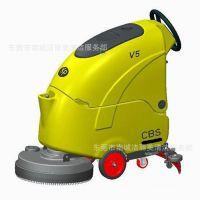 全自动洗地车 电线式自动洗地吸干机 刷地机 厂家直销JM-V5e