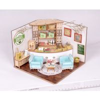 欢乐拼图-BM525创意DIY系列哥伦比亚咖啡厅场景拼插