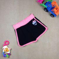 外贸2015夏季新款童裤 女童怪物高中运动裤 儿童休闲家居短裤