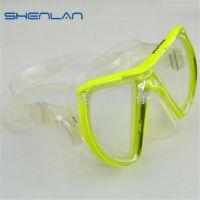 无瞳距无重影近视潜水镜 防雾浮潜蛙镜纯硅胶 无味道防水游泳眼镜