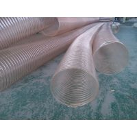 灌南县PU钢丝软管、通风排尘钢丝管、耐磨耐高温钢丝软管、马路清扫车及木工机械专用PU钢丝软管