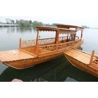 广西云南贵州哪里有水上观光船带篷小木船景区旅游观赏船出售