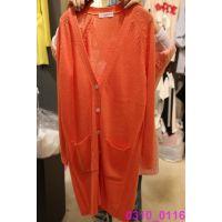 韩国女装代购 东大门进口批发 2015春款V领纯色长款百搭针织外套