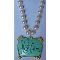 树脂吊牌项链 树脂卡通工艺品项饰 树脂广告牌吊坠 仿珍珠项链