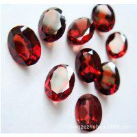 厂家直供 天然宝石 石榴石 批发戒面 彩宝裸石 椭圆形7*9mm珠宝
