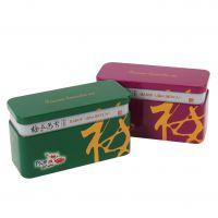 马口铁食品包装盒 扁形接颈食品铁盒