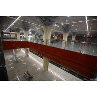 室内弧形铝方通吊顶铝天花@武汉室内造型铝天花吊顶厂家定制