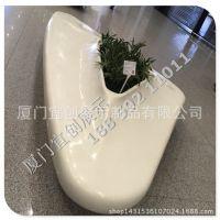 花艺花缸 休息座凳 玻璃钢生产厂家 商场休息区座凳定制批发家具