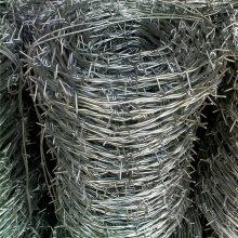 旺来刀片刺绳规格 热镀锌刺绳 防盗刺线