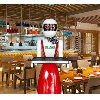 酒店餐厅送餐传菜送菜服务迎宾机器人