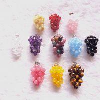 水晶小葡萄吊坠 石榴石,碧玺 红玛瑙 白砗磲粉红黄玉髓各种颜色