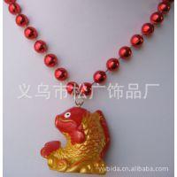 金色鲤鱼吊坠 儿童动物吊坠 树脂工艺品吊坠 连线珠服装配饰吊坠