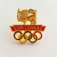 金属外贸胸章 美国 阿拉伯 立体镂空五环斯里兰卡徽章定做