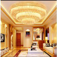 武汉LED水晶灯 03 武汉吸顶灯 武汉客厅灯具聚宝盆圆形卧室餐厅灯饰