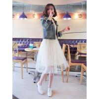 2015新款韩版秋季新款女裤牛仔裤夹克时尚牛仔外套批发