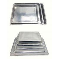 不锈钢蒸饭盘 不锈钢方盘 不锈钢茶盘 不锈钢方形托盘 烧烤盘