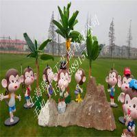 拱应猴年款猴泥塑玻璃钢工艺品卡通美陈园林装饰景观雕塑道具
