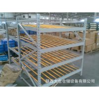 陕西大仓供应重型仓储货架流利式货架 滑移式货架辊轮铝合金流利条
