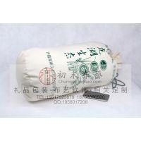 养生谷粗粮包装袋圆底抽绳袋复古型麻布袋帆布袋厂家设计定做