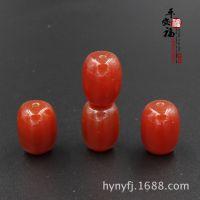厂家供应 天然红玛瑙桶珠 DIY饰品配件 红玛瑙散珠 顶珠