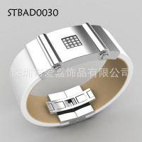 钛钢镶钻手环加工生产不锈钢铜手镯饰品可穿戴式数码珠宝首饰厂家