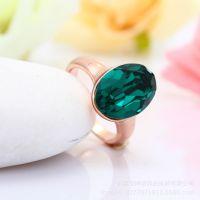 厂家定做锌合金压铸戒指 玫瑰金镶钻戒指 欢迎来样来图定做