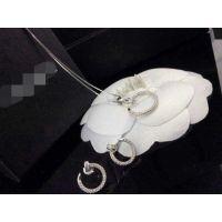 925银精镶水晶  个性钉子女款耳环 项链 招代理一件代发