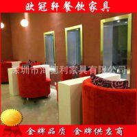 优惠促销 现代餐厅卡座沙发 真皮/头层皮/二层皮卡座沙发定制