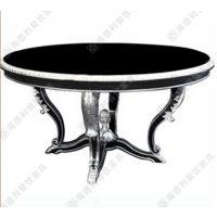 欧式古典风咖啡桌 经典铸铁印花多位圆形玻璃钢咖啡桌 高档咖啡桌厂价热卖