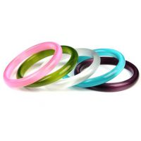 美祥珠宝 猫眼石手镯 绿紫粉白蓝多色可选 精致女款