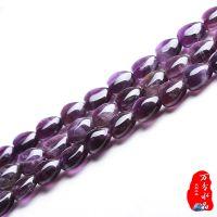 纯天然紫水晶心形半成品批发特价 长链 diy散珠串珠 可穿手链耳坠
