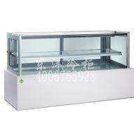 1.2米白色大理石,二层日式蛋糕柜,蛋糕冷藏柜,蛋糕柜台式