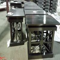 供应广西板式不锈钢办公茶几 美式防实木茶几厂家直销