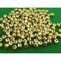 供应CCB电镀珠饰6×7mm扁豆