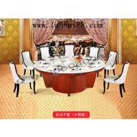 花梨木火锅圆形大餐桌