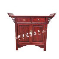 明清仿古家具中式古典榆木实木翘头柜两门两抽鞋柜条案门厅柜子