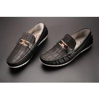 新款时尚休闲男鞋 头层牛皮一脚蹬透气男鞋 懒人驾车鞋 奥圣马品牌男鞋