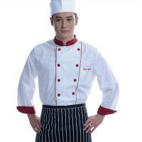 饭店厨师工作服 长袖厨师制服酒店厨师服 秋冬季制服厂家直销批发