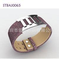 能量磁石保健手环 宝石首饰生产设计定做 真皮不锈钢手镯加工生产