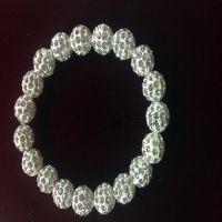 厂家批发韩国低温软陶香巴拉串珠镶满钻水晶钻球手链10mm