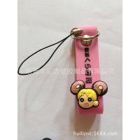 新款日本环保PVC卡通手机挂件 PVC软胶手机吊饰手机链批发定做